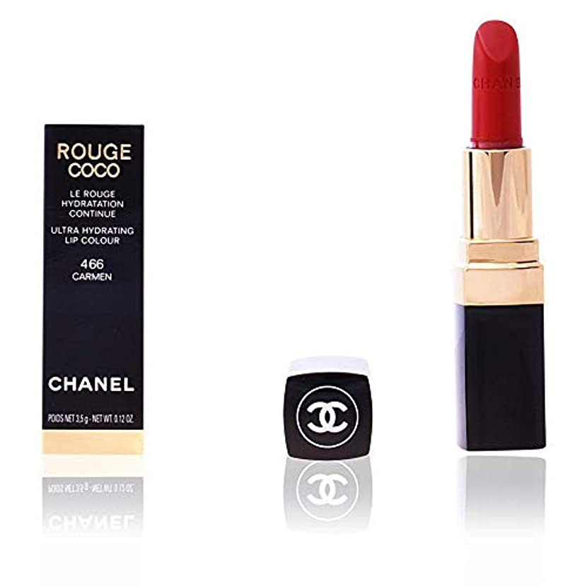 不透明な形浮浪者シャネル Rouge Coco Ultra Hydrating Lip Colour - # 466 Carmen 3.5g/0.12oz並行輸入品