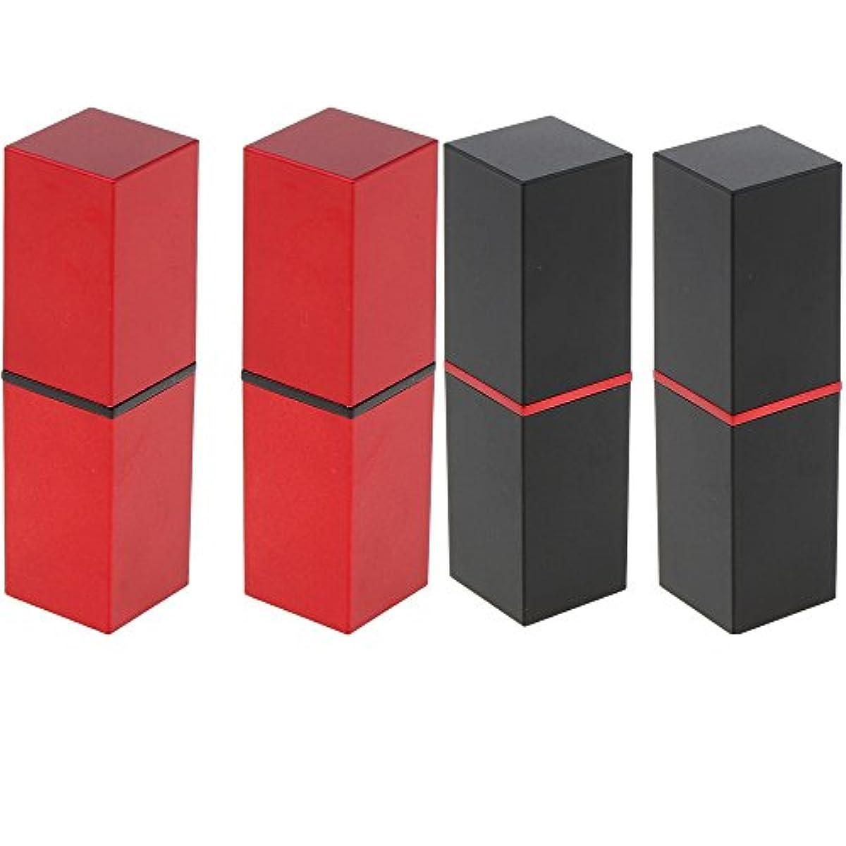 アルコーブ参照する生きているPerfk 4本 リップスティックチューブ 12.1MM口紅チューブ用 DIY 化粧品 収納用 コンテナ 手作り口紅