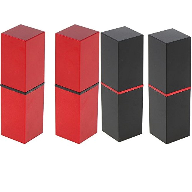 シーフード限定メッセージPerfk 4本 リップスティックチューブ 12.1MM口紅チューブ用 DIY 化粧品 収納用 コンテナ 手作り口紅