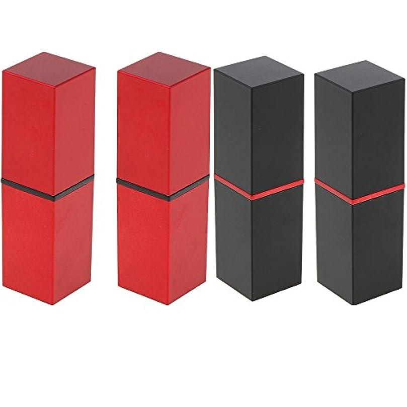 Perfk 4本 リップスティックチューブ 12.1MM口紅チューブ用 DIY 化粧品 収納用 コンテナ 手作り口紅