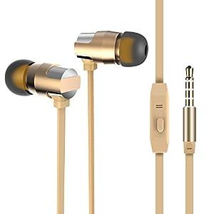 Ziofen カナル型 イヤホン 高音質 ヘッドホン マイク インナーイヤー ハイレゾ対応 ステレオ earphone ノイズキャンセリング