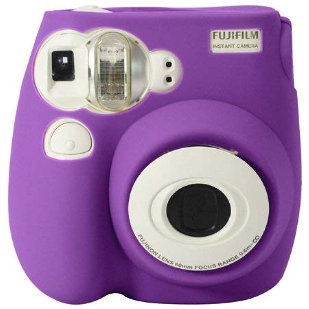 引き出すアストロラーベましいカメラケースバッグ Fujifilm Instax Mini 7s Instax Mini 7sケース Fujifilm Instax 7sケース ストラップ付き パープル