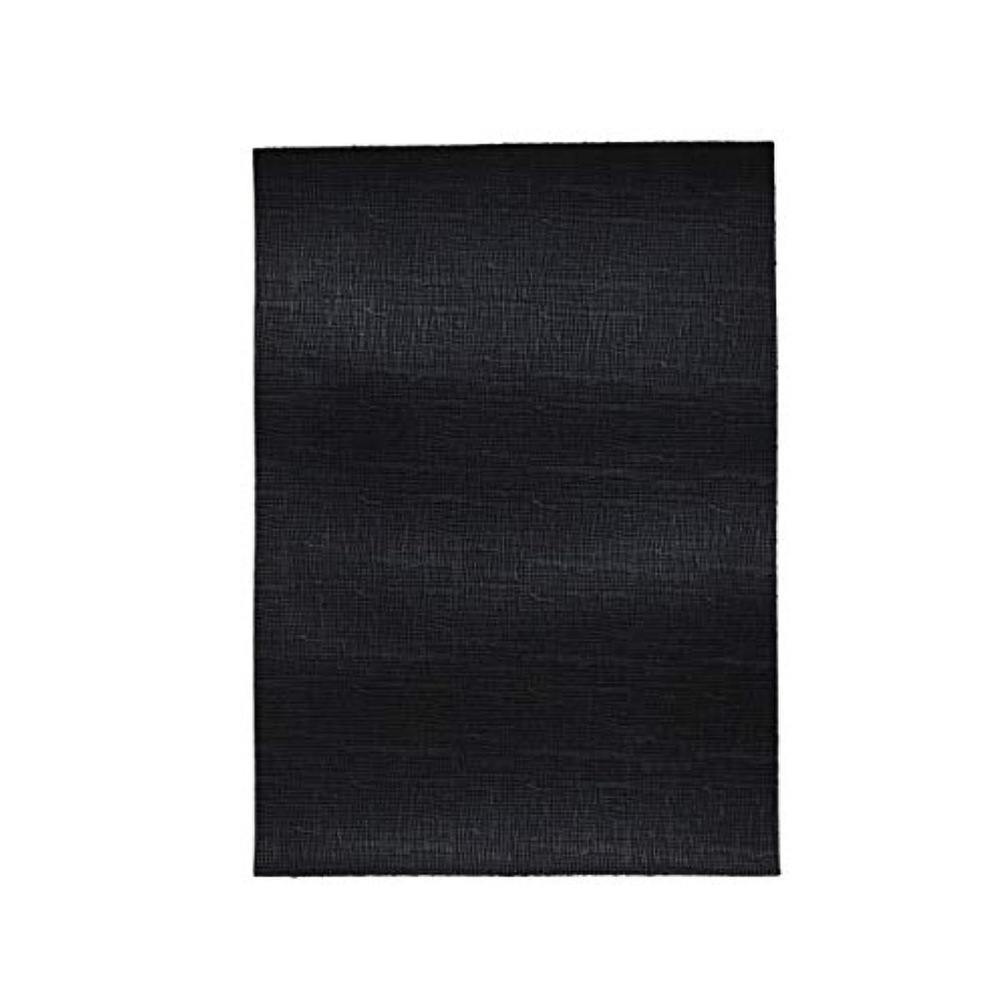涙が出るスカリー対話TOKEN トーケン レザークラフト 材料 皮 革 日本産 牛革 ステア クロム鞣 防水レザー ウォータープルーフ 型押し加工 エンボス レザー 厚さ 約1.0mm?1.4mm (BLACK, A4)