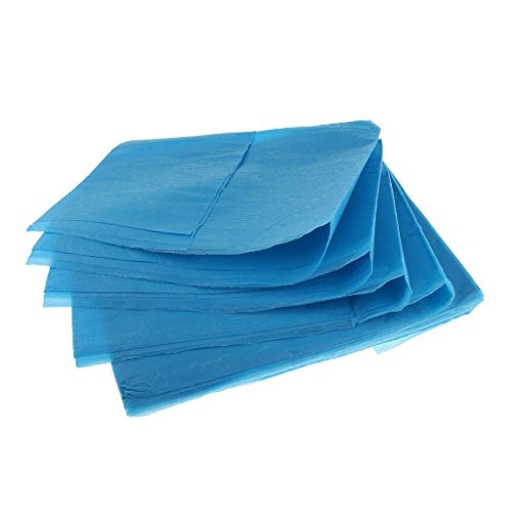 要求ドループ七面鳥10枚 使い捨て ベッドシーツ ベッドパッド カバー 妊産婦 生理期間 スキンケア 美容院 サロン ホテル 2色選べ - 青