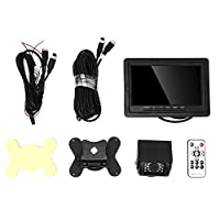 車のLCDレコーダー、7インチLCDディスプレイHD車の背面図逆レコーダー防水ナイトビジョンバックアップカメラディスプレイカメラ駐車システム800 * 480
