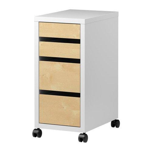 IKEA(イケア) MICKE 引き出しユニット キャスター付き バーチ