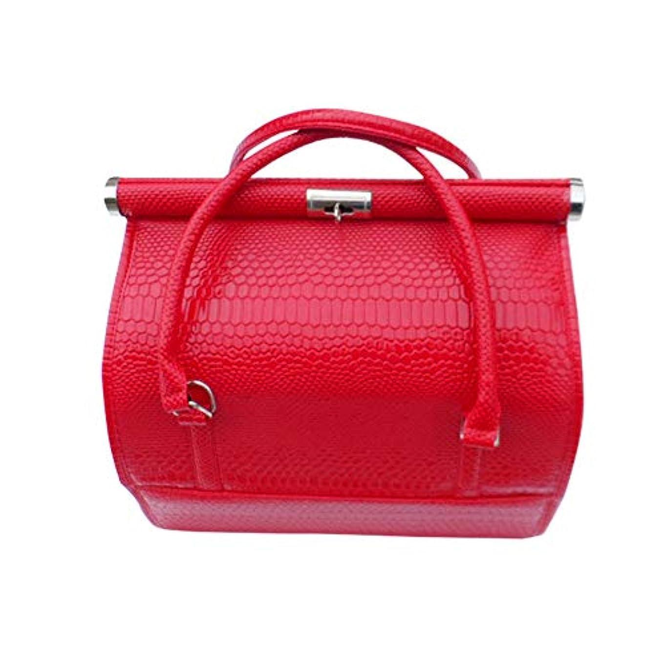 パスタ番目化粧化粧オーガナイザーバッグ 女性の女性のための美容メイクアップのためのポータブル化粧品バッグ旅行と折り畳みトレイで毎日のストレージ 化粧品ケース