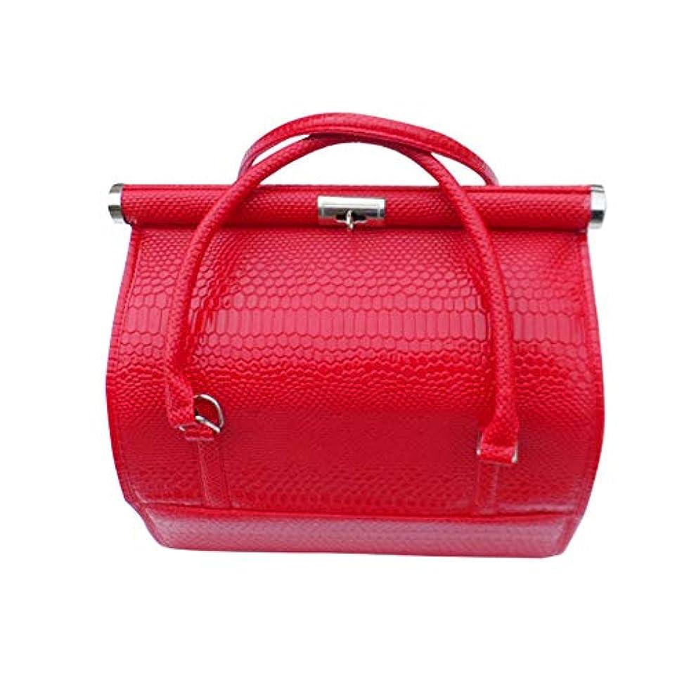 ディレクトリ大佐事業内容化粧オーガナイザーバッグ 女性の女性のための美容メイクアップのためのポータブル化粧品バッグ旅行と折り畳みトレイで毎日のストレージ 化粧品ケース