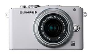 OLYMPUS ミラーレス一眼 PEN Lite E-PL3 レンズキット ホワイト E-PL3 LKIT WHT