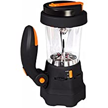 Ivation Hand Crank LED Camping Lantern with Flashlight SOS Siren & Light AM/FM Radio & Emergency Mobile Device Charger