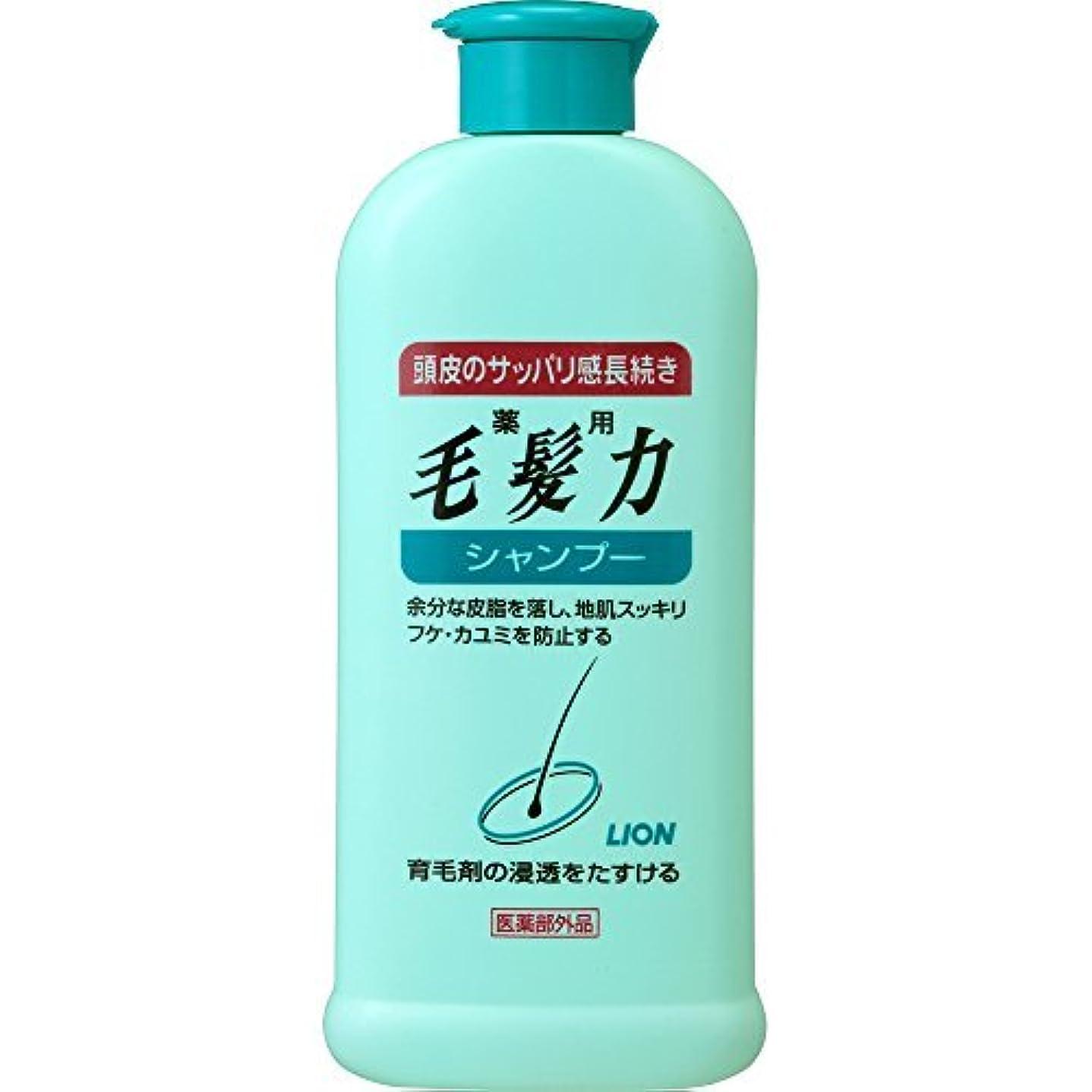 特権精度商標【ライオン】薬用毛髪力シャンプー200ml×6個セット