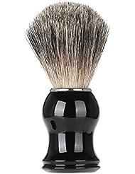 Nitrip シェービングブラシ ひげブラシ ひげケア アナグマ毛 理容 洗顔 髭剃り 泡立ち シェービング用アクセサリー 男性用 高級