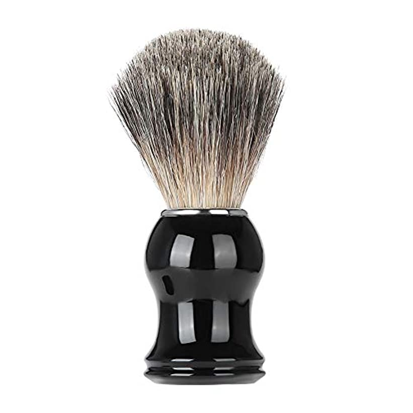 弱まる力強い絶望的なシェービングブラシ男性髭口ひげ剃毛ブラシ樹脂ハンドル髭剃りツール