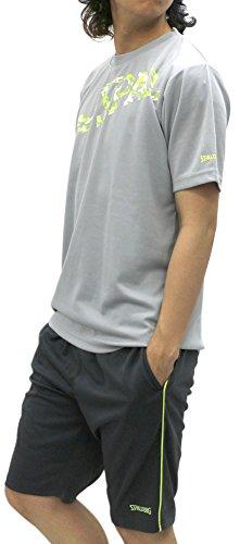 [スポルディング] トレーニングウェア 上下 セット ドライ Tシャツ ジャージ ショートパンツ メンズ ライトグレー L