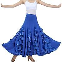 CISMARK Elegant Milk Silk Ballroom Waltz Dancing Long Swing Skirt One Size