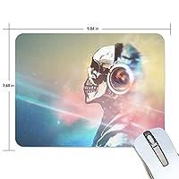 Anmumi マウスパッド 滑り止め スカル 骨 音楽 光 個性 かっこいい 19×25cm ゲームに適用 かわいい オシャレ レディース メンズ 子供 ゴム 実用性 パソコン対応