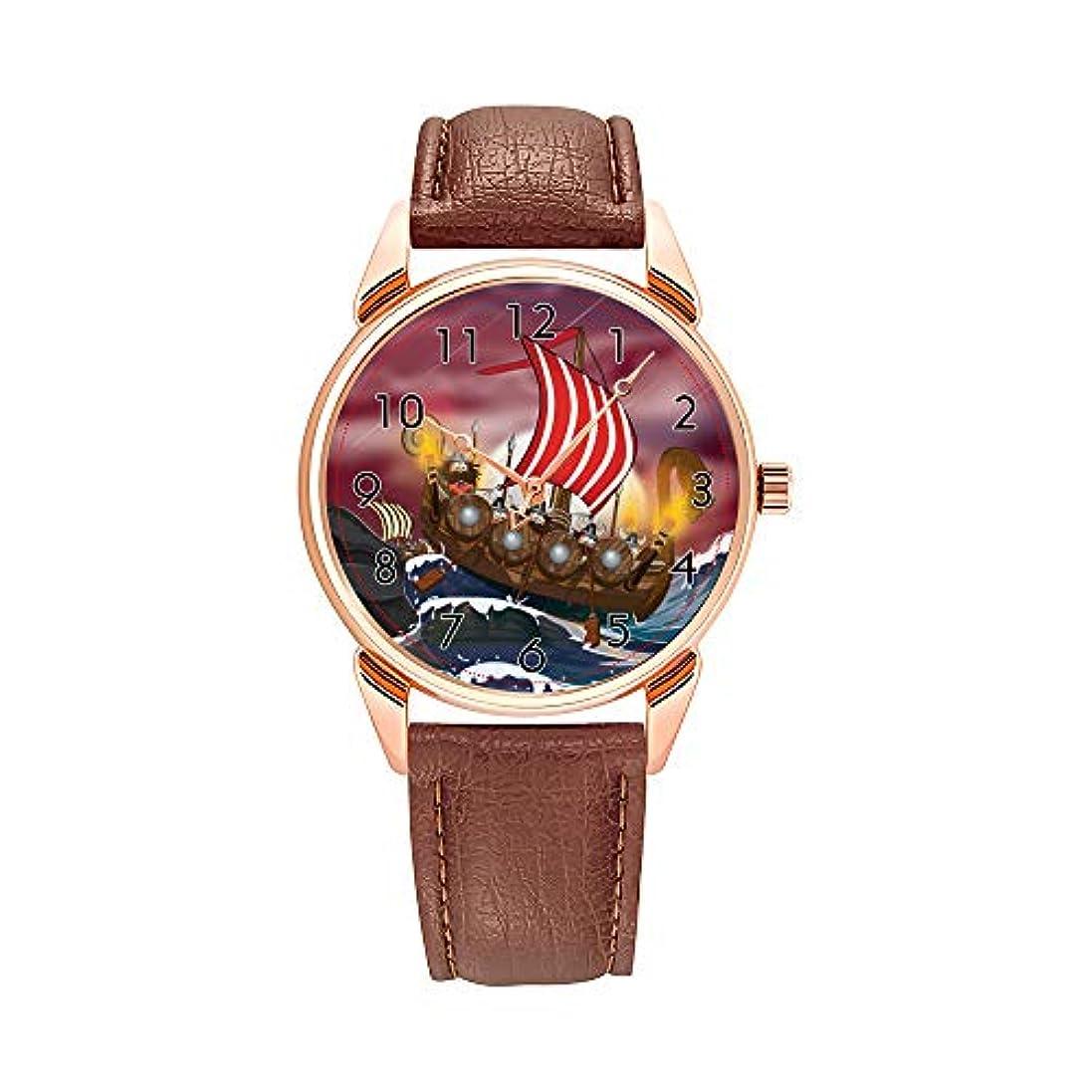 土曜日ソーセージペストリーファッションクォーツウォッチ メンズウォッチ トップブランド ラグジュアリー メンズ時計 ビジネスウォッチ バイキング+シップ+インベイジョン+フリート インベイジョン+フリート インベイジョン+フリート腕時計