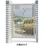 三協アルミ 形材門扉末広2型 0910 片開き門柱タイプ   アーバングレー