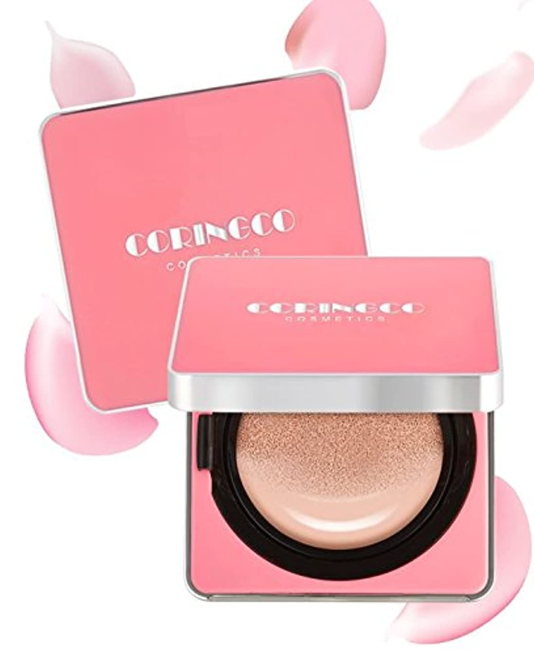 CORINGCO Cherry Blossom Water Cushion 15g + Refill 15g (#23 Light Beige)/コリンコ チェリーブロッサム ウォーター クッション 15g + リフィル...