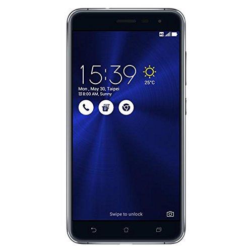 "ASUS ZenFone 3 ZE552KL スマートフォン(サファイアブラック/5.5""FHD 1920x1080/Android 6.0.1/Qualcomm Snapdragon 625(Octa-core CPU)2.0GHz/RAM 4G/ROM 64GB/802.11AC/BT4.2/LTE対応/指紋センサー)"