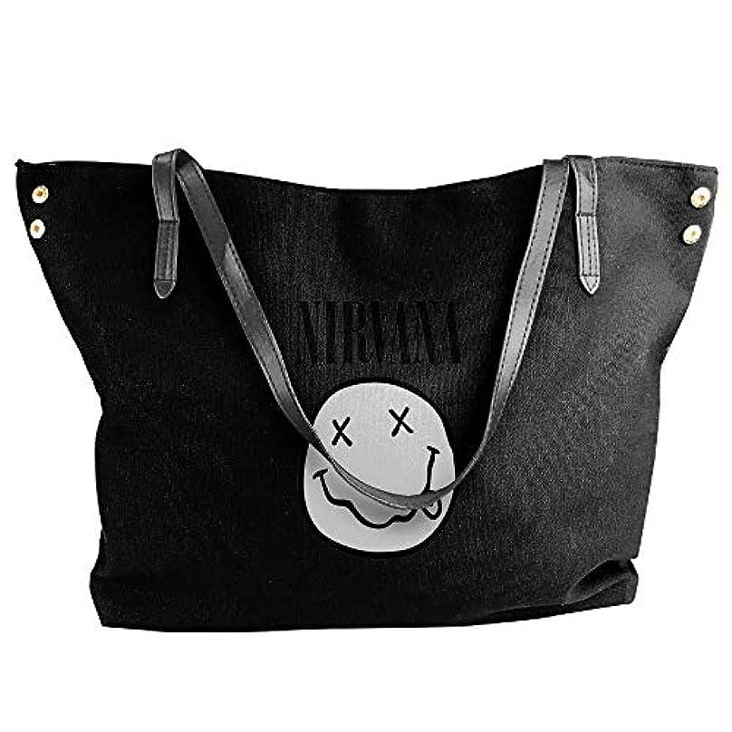 スキル死要旨2019最新レディースバッグ ファッション若い女の子ストリートショッピングキャンバスのショルダーバッグ Nirvana 人気のバッグ 大容量 リュック