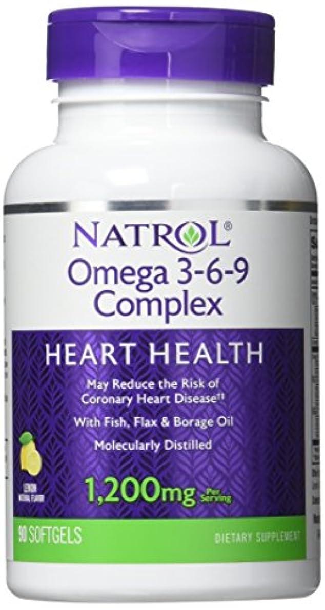 瞑想的スープ黒人Natrol - Omega 3-6-9 Complex, 90 softgels by Natrol