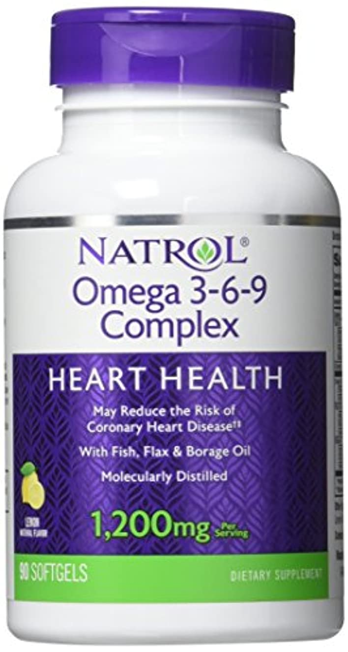 シャット財団四分円Natrol - Omega 3-6-9 Complex, 90 softgels by Natrol