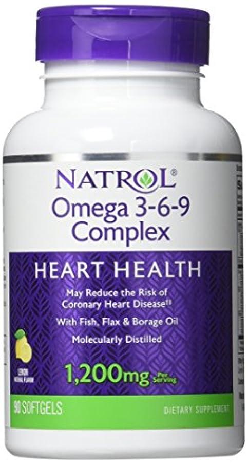 百年世界的に応援するNatrol - Omega 3-6-9 Complex, 90 softgels by Natrol