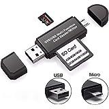メモリーカードリーダライタ, カードリーダー SD/Micro SDカード両対応 OTG機能 Micro USB/USB 接続 Windows/Android,SD,Micro SD,SDXC,SDHC,MMC,RS-MMC,RS-MMC,Micro SDXC,Micro SDHC,UHS-I Cards