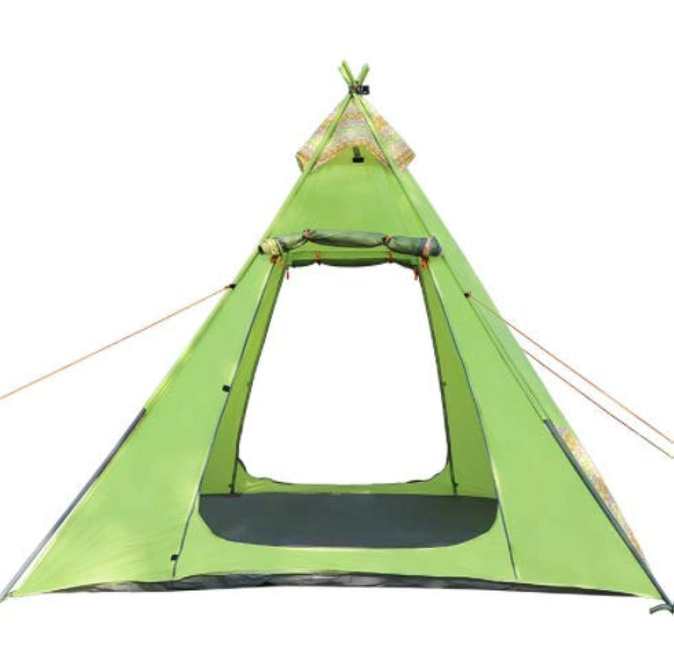 条約酔った振り子新しい屋外キャンプテント鉄パイプポール防風防水キャンプテント