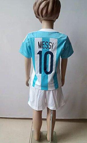 子供用 15-16 サッカー ユニフォーム アルゼンチン HOME 10番 メッシ