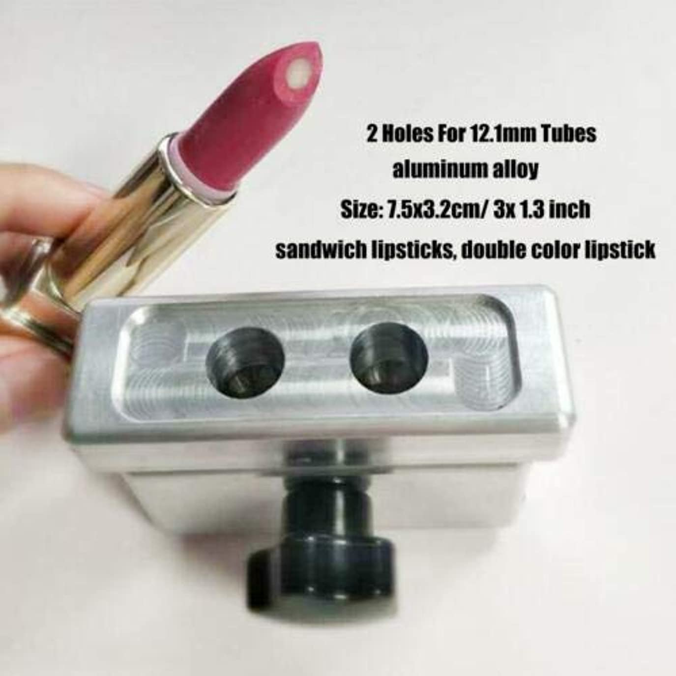 セッションプランテーション指紋FidgetGear DIY口紅型リップスティック型メーカー2 4 6穴用9 mm 11.1 mm 12.1 mmチューブ #5(2穴12.1mm)
