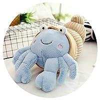 ぬいぐるみヤドカリ人形かわいい漫画小さなカニ人形枕ギフト,天兰色,35センチ