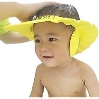 W-ShiG シャンプーハット 子供 洗髪用帽子 樹脂 サイズ 調整可能 お風呂 防水帽 グリーン