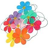 SM SunniMix 紙吹雪飾り 風車 回転8個セット 造花吊り装飾 ガーデン結婚式装飾 インテリア 壁掛け 防水退色防止