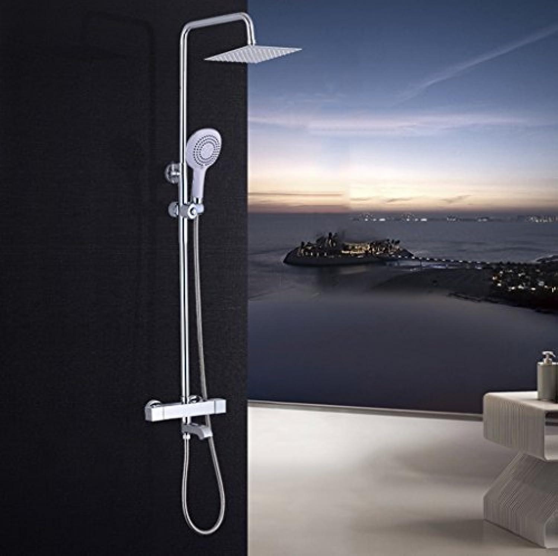 浴室のシャワーセット シャワー装置の蛇口恒温シャワー蛇口ホットとコールドの蛇口大きなシャワーセット銅の蛇口