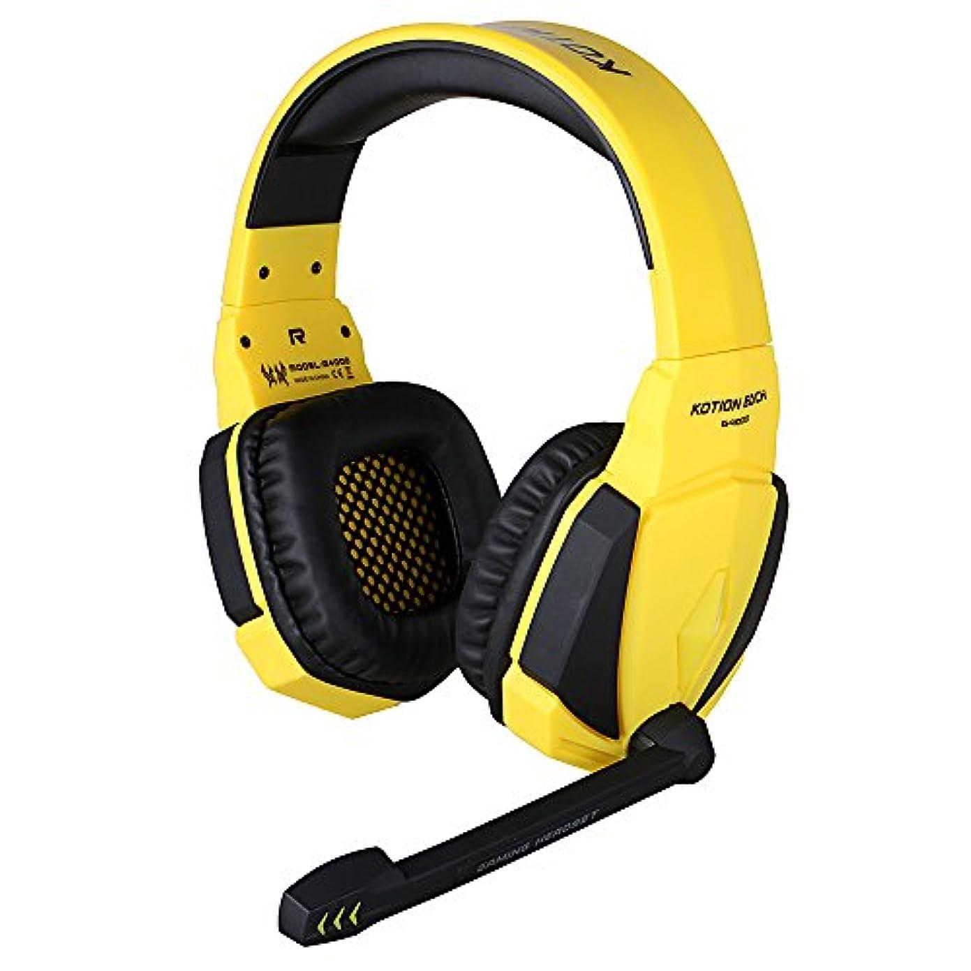 曲がった請求パキスタンFHCGヘッドコンピューター、有線ヘッドセット、ゲームプレーヤー、ヘッドセット、黄色