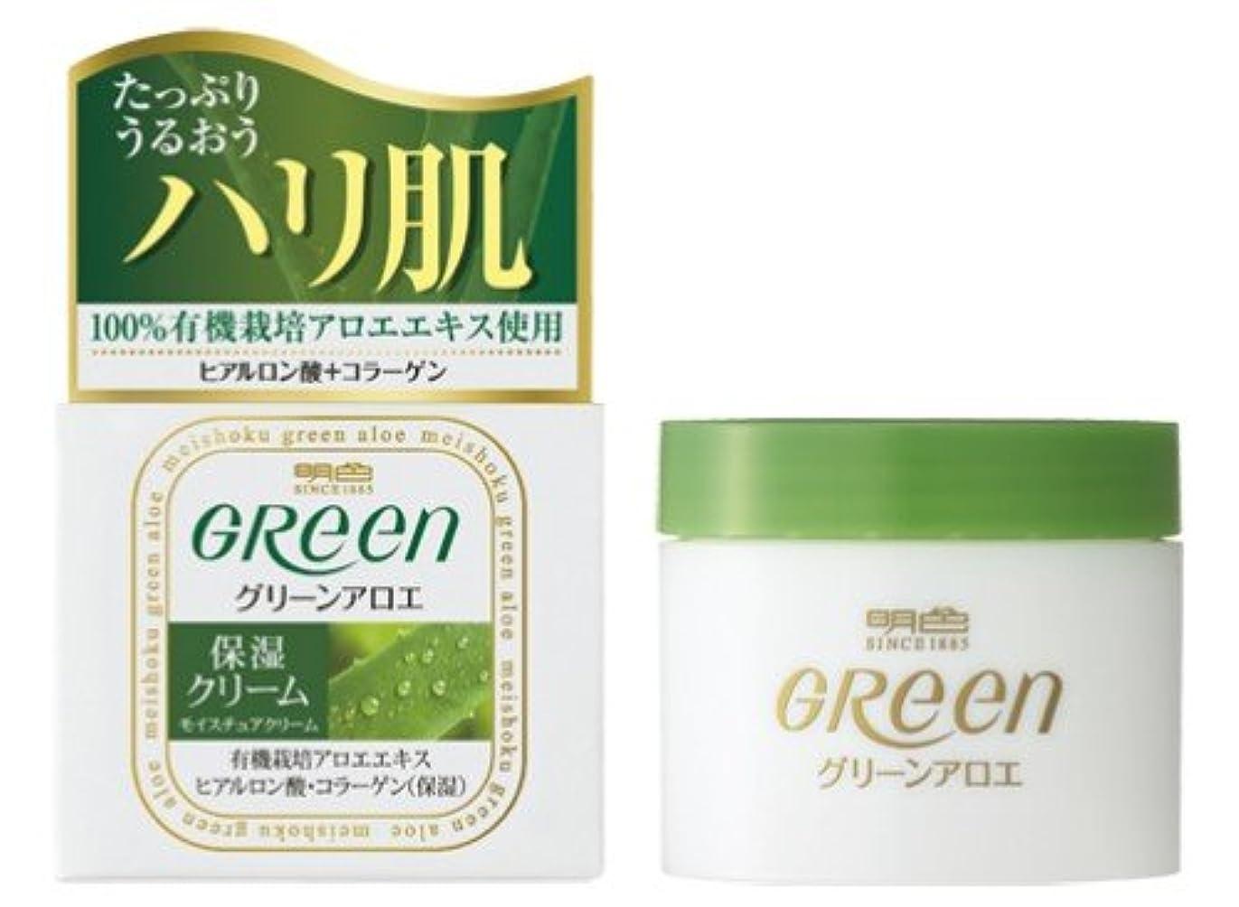 常習者ぎこちない散髪明色グリーン モイスチュアクリーム 48G