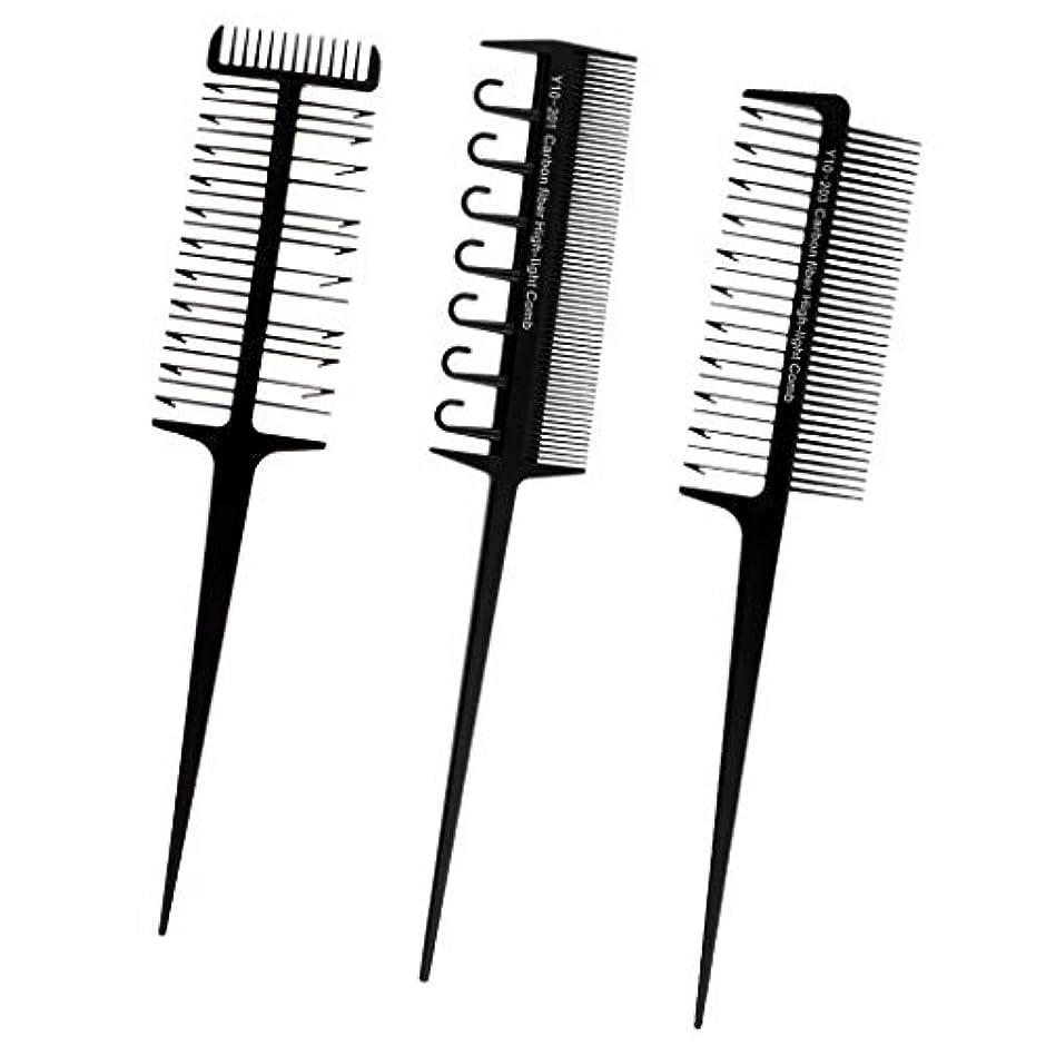 と闘う代理人音節ヘアダイブラシ プロ用 へアカラーセット 3本セット DIY髪染め用 サロン 美髪師用 ヘアカラーの用具