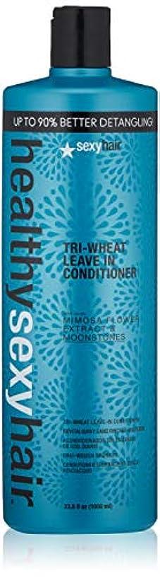 輝く完璧謝罪セクシーヘアコンセプト Healthy Sexy Hair Tri-Wheat Leave In Conditioner 1000ml/33.8oz並行輸入品