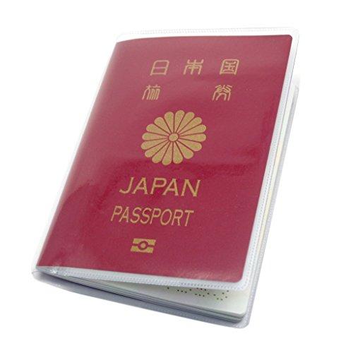 (Aideaz) シンプル 透明 パスポート カバー セット 簡単着脱 防水 防塵 ポケット 付 2種類 (外側透明 3枚)