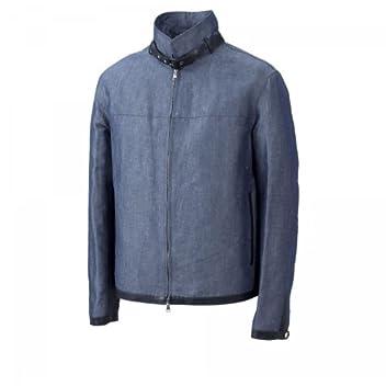 Cinquanta Cotton Linen Jacket: Denim