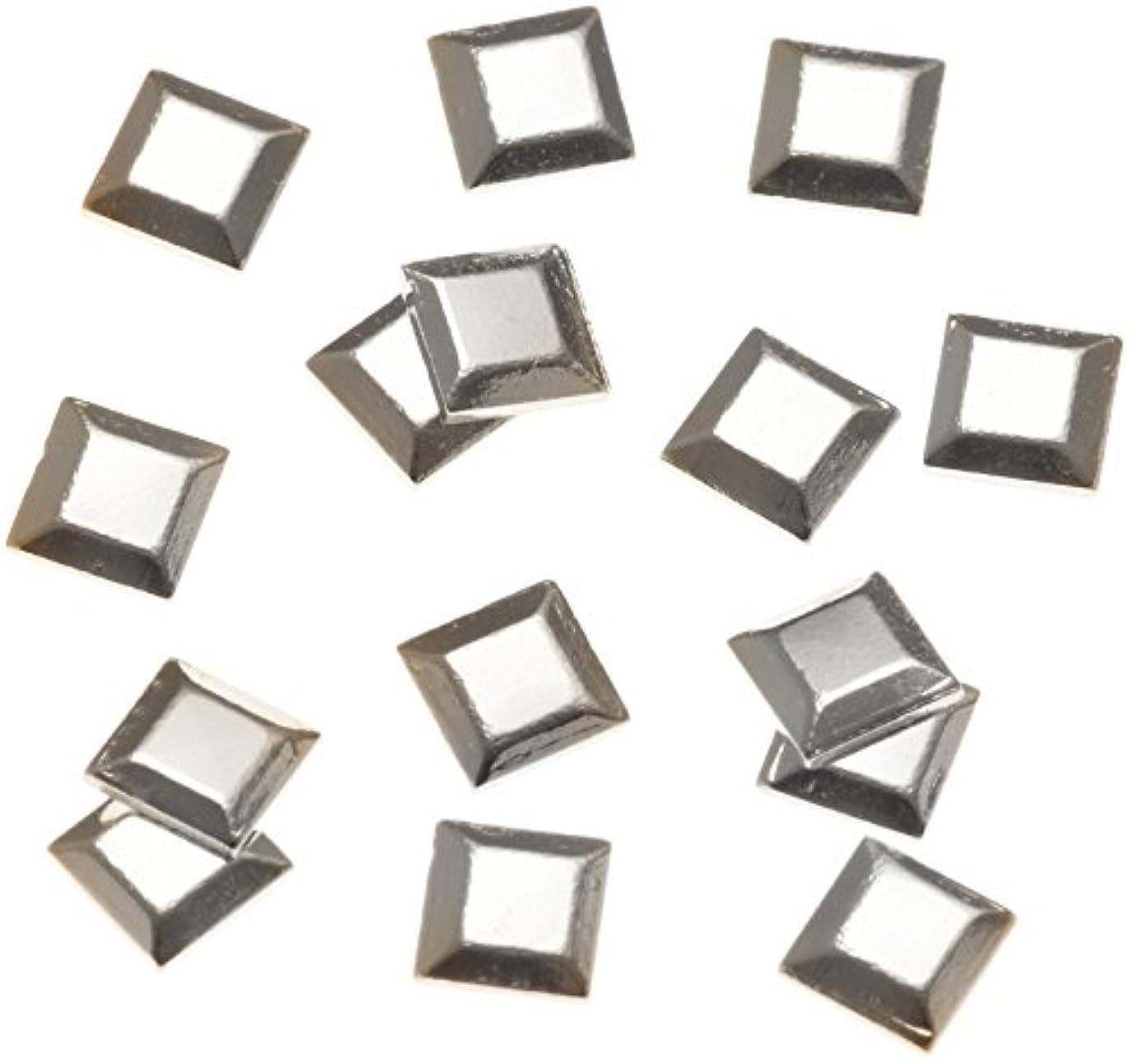 耐えられる実質的に四リトルプリティー ネイルアートパーツ スタッズスクエア シルバー 50個
