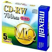マクセル データ用 CD-RW 700MB (1~4倍速対応) 5枚パック CDRW80MQ.S1P5S