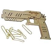輪ゴム銃 8連射式 DIY 組立式 木製 輪ゴム鉄砲