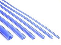 スケルトン シリコンチューブ クリア ブルー 半透明 6Φ 内径6mm 外径12mm 1m切り売り 耐熱 耐候 シリコンホース
