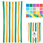 Quick Dry Towel Beach Towels - Lazy Afternoons, Extra Large (200x90cm, 78x35) - Swim, Pool, Yoga, Travelling