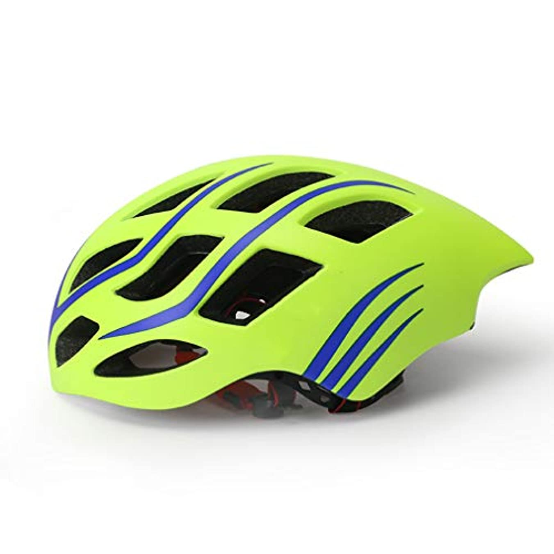 センチメンタル蓋負大人のロードバイクヘルメット自転車サイクルヘルメット調整可能な軽量ヘルメット大人の女性男性57-62Cm PCシェル+ EPSフォーム一体成形ヘルメットユニセックス,グリーン