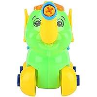 幼児おもちゃ プラスチック 取り外し可能 組み立ておもちゃ カラフル 早期教育 組み合わせツール ラーニングギフト 子供 幼児(ゾウ)