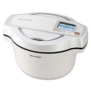 シャープ 自動調理 鍋 ヘルシオ ホットクック 1.6L 無水鍋 AIoT対応 ホワイト KN-HW16D-W